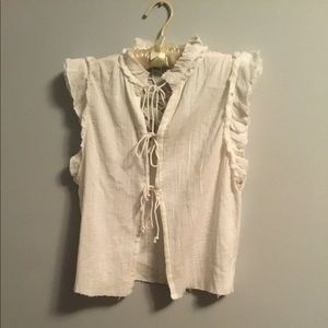 Free People ivory blouse size small